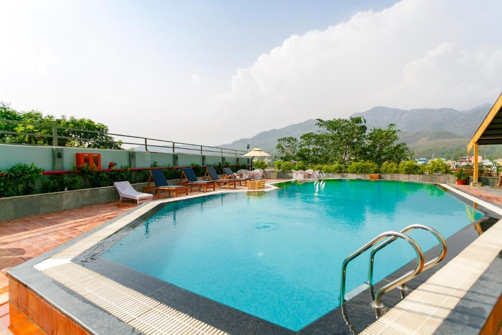 The swimming pool at or near Hotel Natraj Rishikesh
