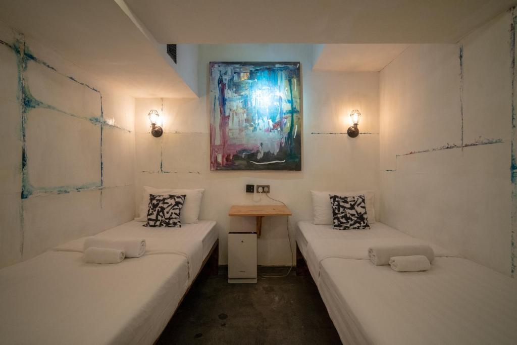A bathroom at Just As Inn