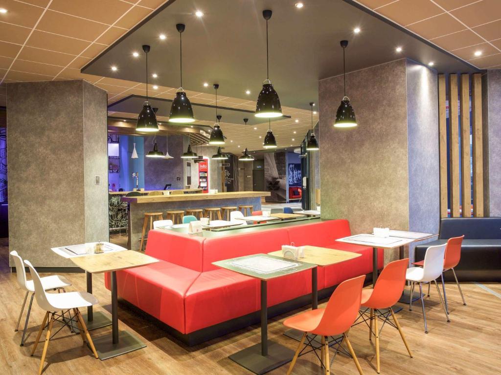 伊爾庫茨克中心宜必思酒店餐廳或用餐的地方