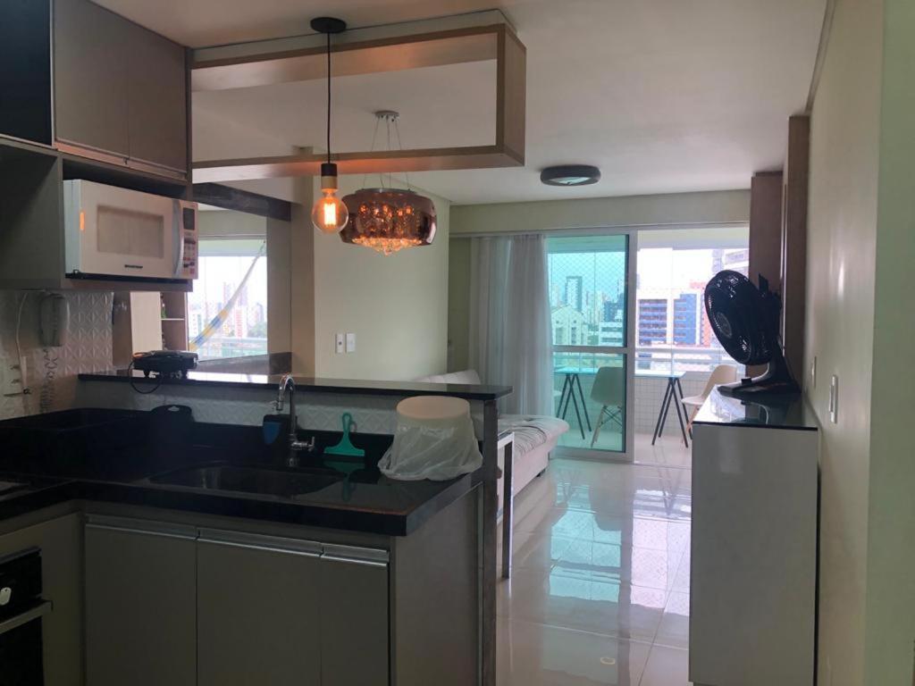 A bathroom at Apartamento na Beira-Mar Fortaleza
