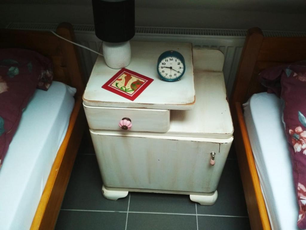 Koupelna v ubytování Domácí ubytování Kaňk