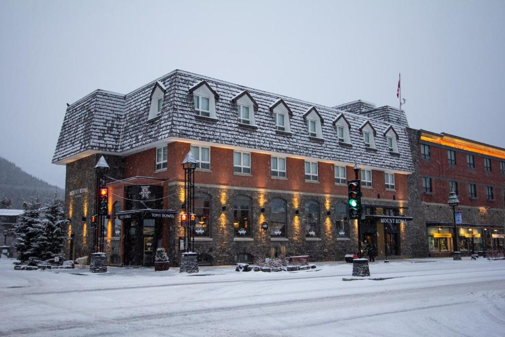 Mount Royal Hotel during the winter
