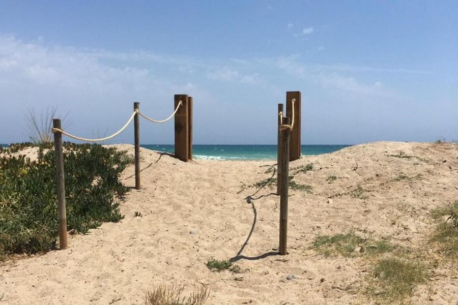 Playa de o cerca de este camping