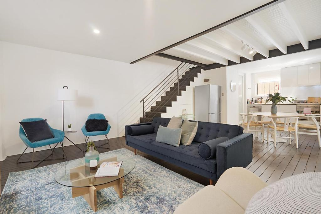 A seating area at Large Converted Church Apartment In Top Location