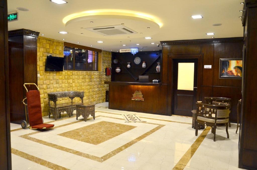 The lobby or reception area at Saint John Hotel