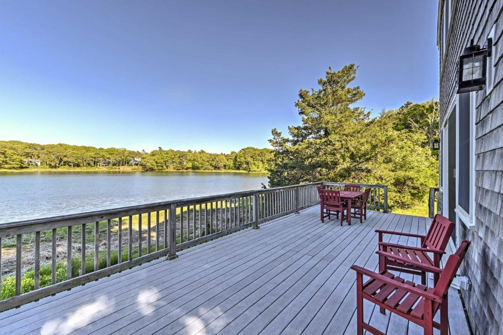 Bourne House with Furnished Deck and Waterfront Views!