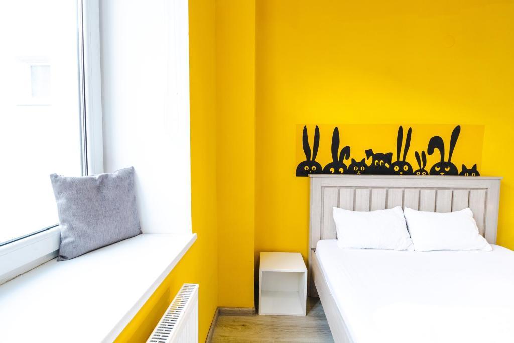 Кровать или кровати в номере Z-One Hostel
