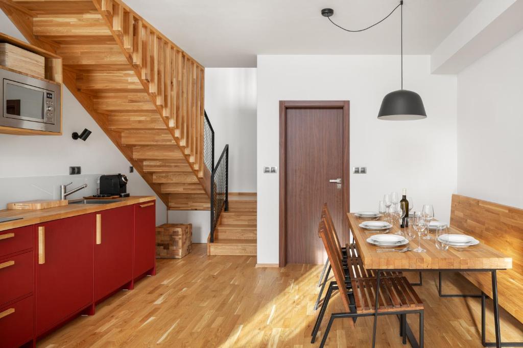 Kuchyň nebo kuchyňský kout v ubytování REZIDENCE KONĚVOVA, Mikulov