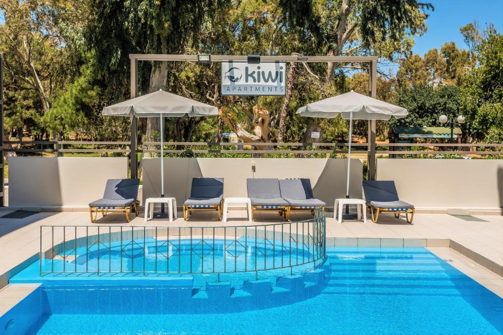 The swimming pool at or near Kiwi Apartments