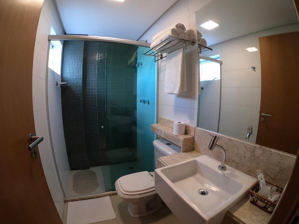 A bathroom at Hotel do Sertão