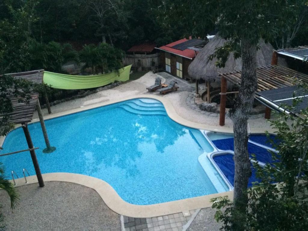 Vista de la piscina de Chaktunche Rancho Ecolodge o alrededores