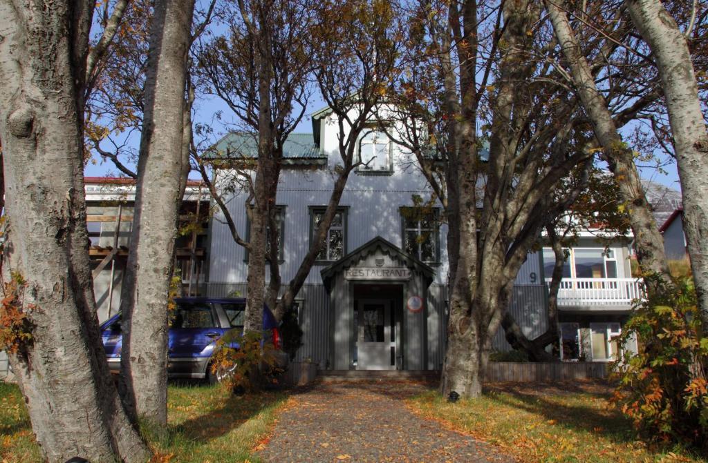Bygningen som pensionatet ligger i