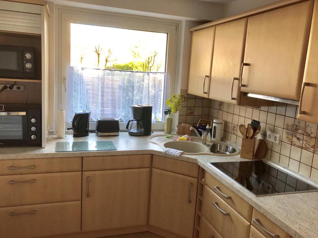 Küche/Küchenzeile in der Unterkunft Abelia Gästehäuser