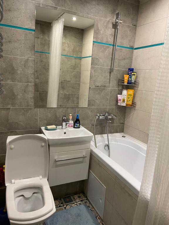 A bathroom at Apartment Gulnara