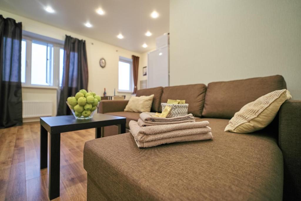 A seating area at Апартаменты недалеко от аэропорта Шереметьево, МЦД D-1