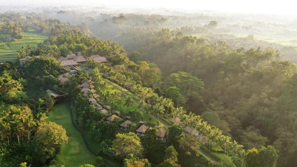 A bird's-eye view of Maya Ubud Resort & Spa