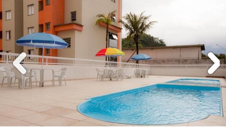 Apartamento Sun Way com piscina, churrasqueira e play ground