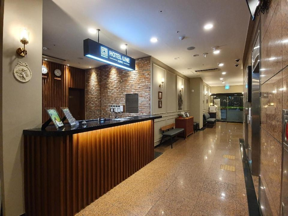 The lobby or reception area at Residence Hotel Line