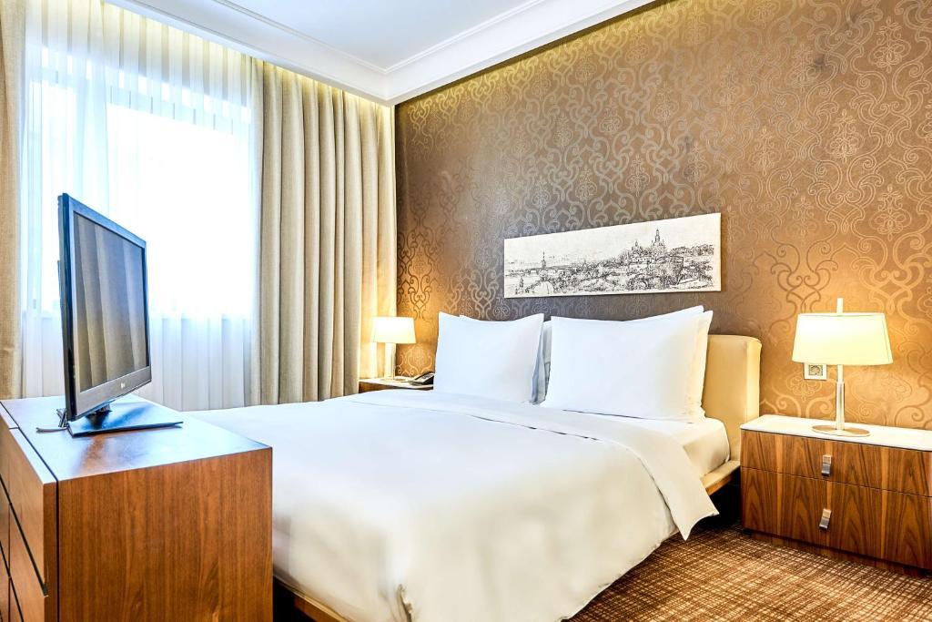 Lova arba lovos apgyvendinimo įstaigoje Radisson Blu Hotel, Kyiv Podil City Centre