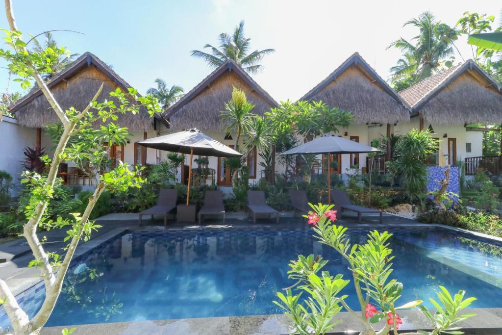 The swimming pool at or near Alam Selumbung