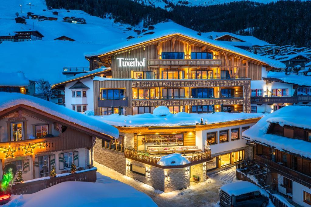 Hotel Alpin Spa Tuxerhof during the winter