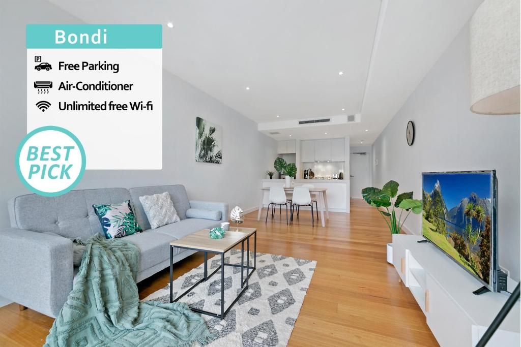 A seating area at Stay at Bondi! 2 BEDs Cozy Unit within Short Walk!