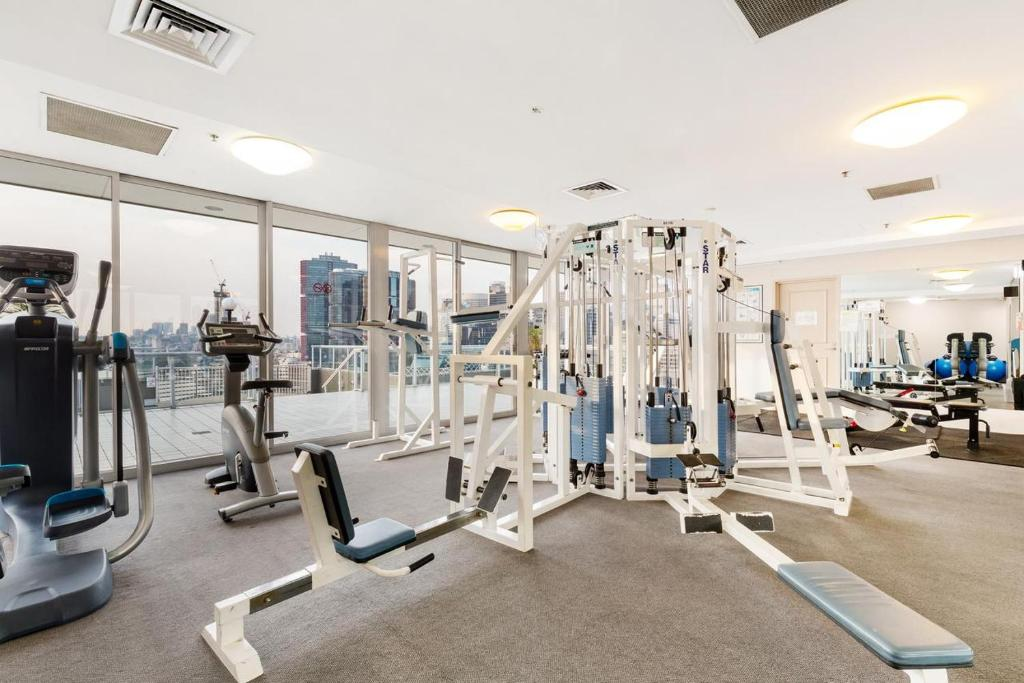 The fitness center and/or fitness facilities at Sydney Darling Harbour Waterfront