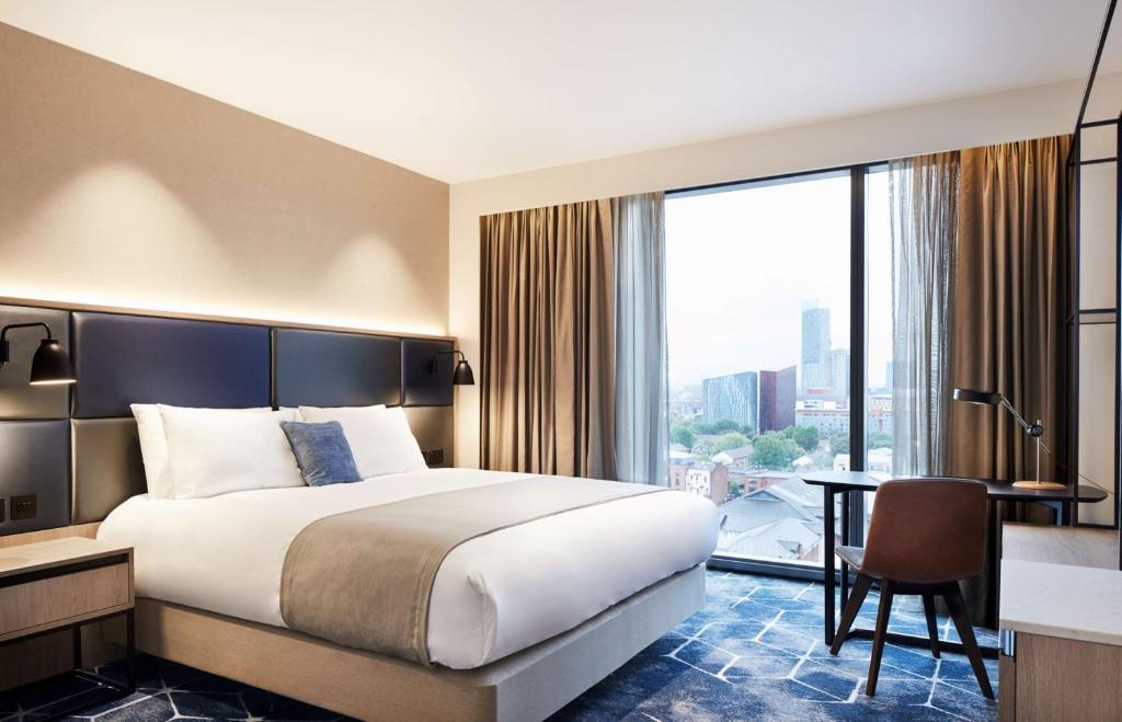 A bed or beds in a room at Hyatt Regency Manchester