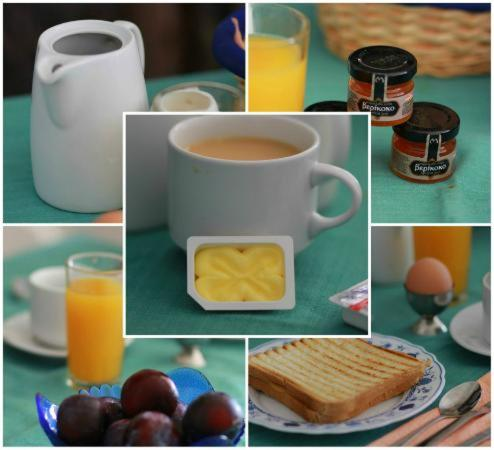 Breakfast options available to guests at Aelia by Eltheon