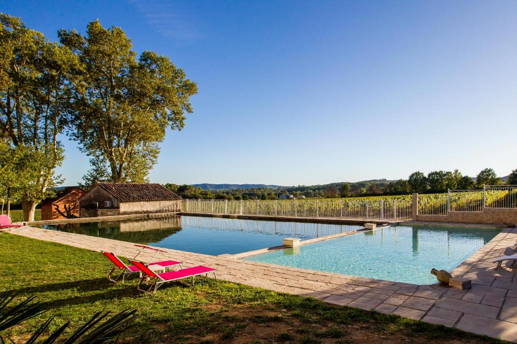 The swimming pool at or near Chateau Nestuby
