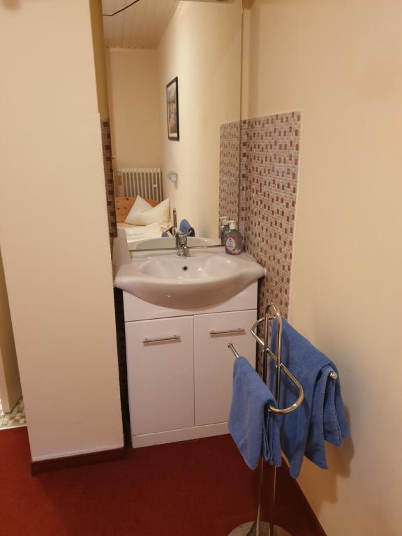 Koupelna v ubytování Hotel Giesing