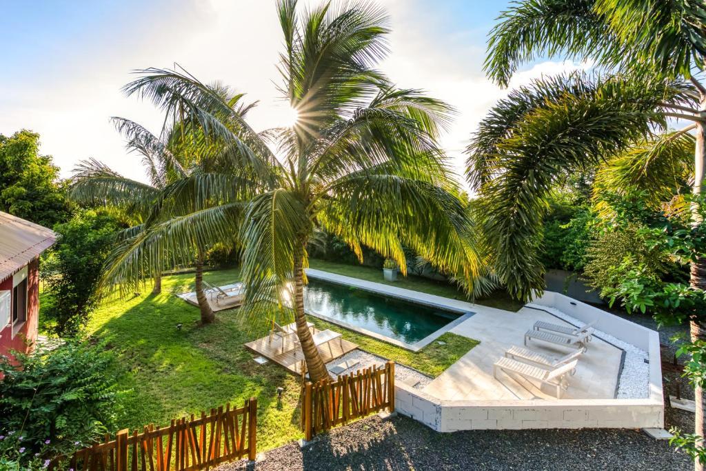 Vue sur la piscine de l'établissement Tipalais ou sur une piscine à proximité