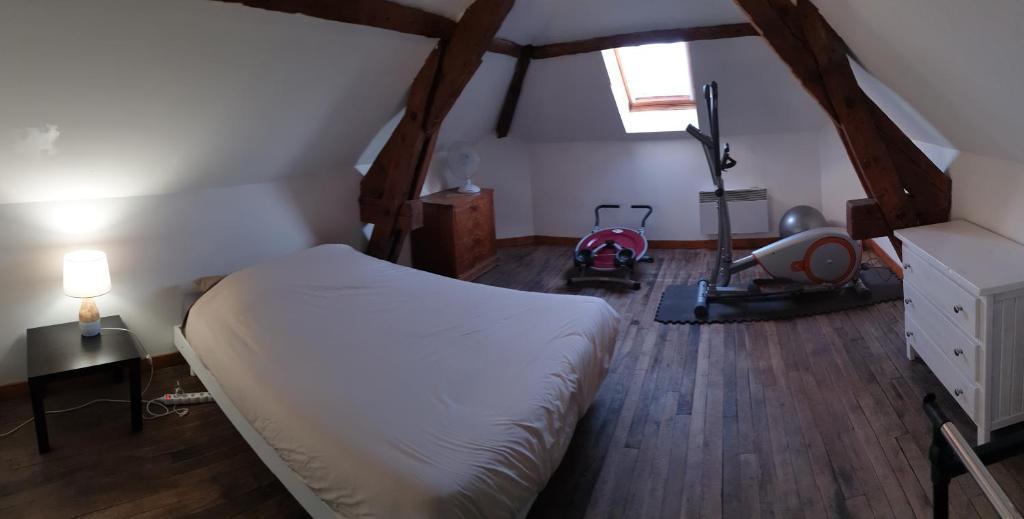 Un ou plusieurs lits dans un hébergement de l'établissement Appartement agréable 1 à 4 personnes