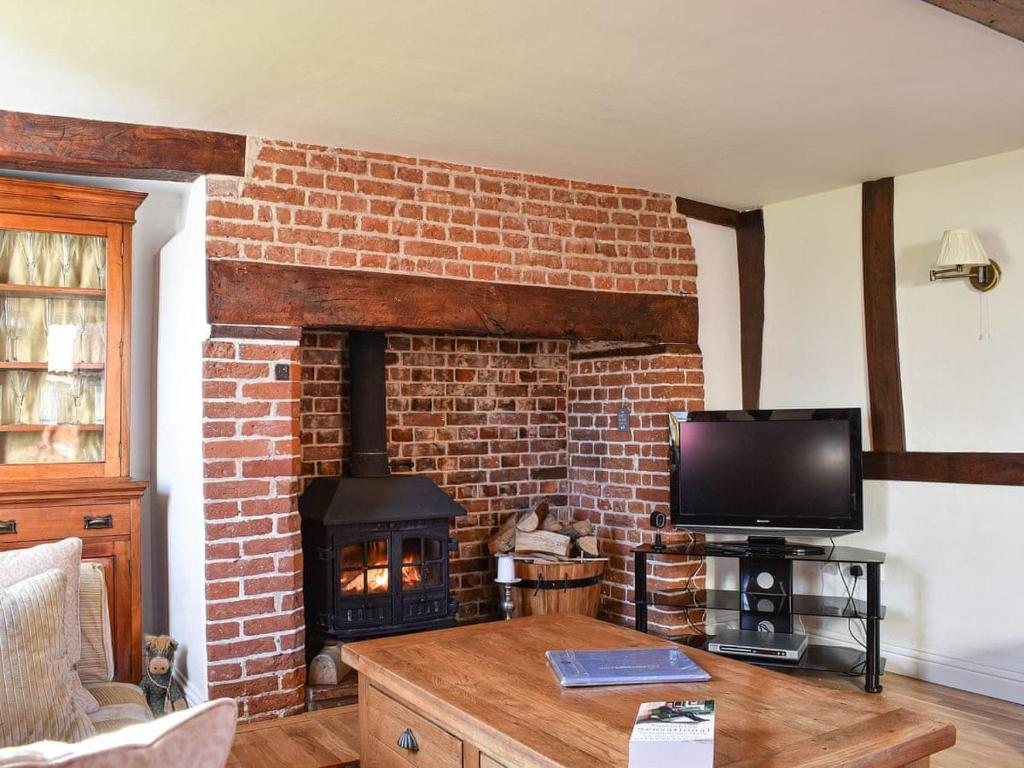 A television and/or entertainment center at Brushmaker Cottage