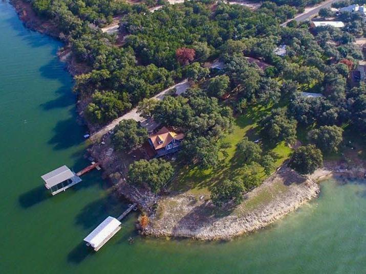 A bird's-eye view of The Cove BNB