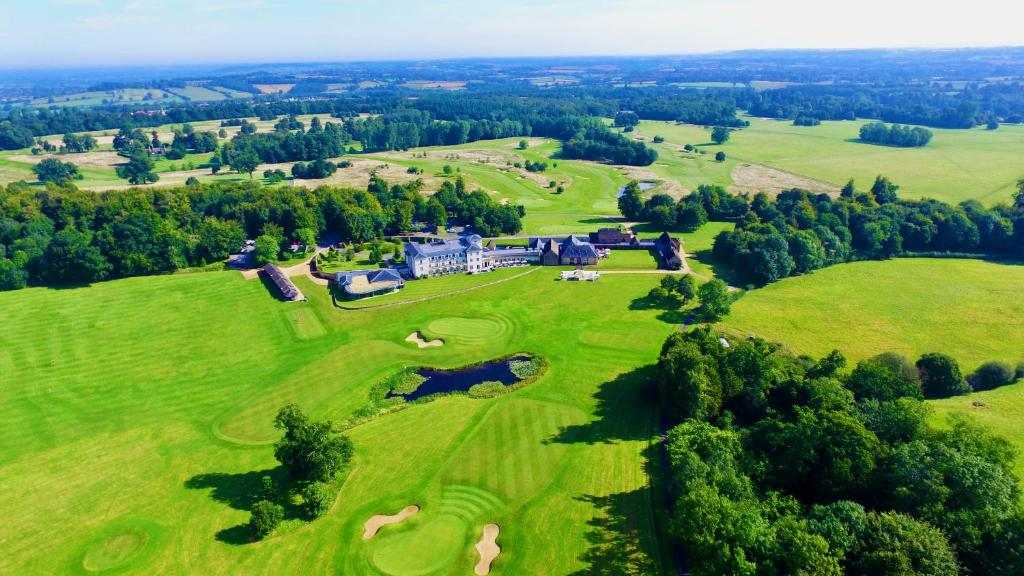A bird's-eye view of Bowood Hotel, Spa, and Golf Resort