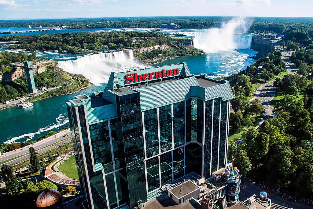 A bird's-eye view of Sheraton on the Falls