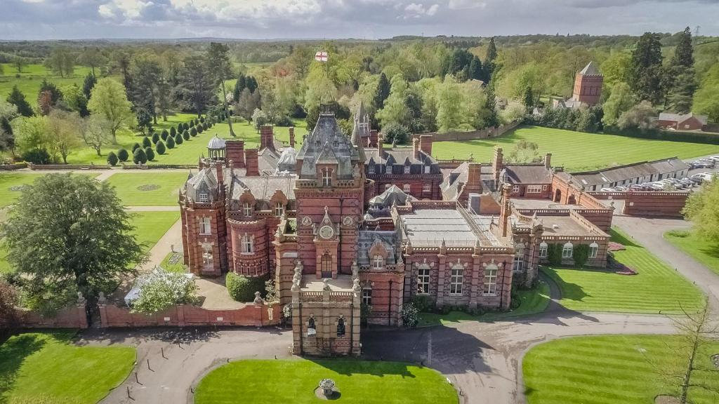 A bird's-eye view of The Elvetham Hotel