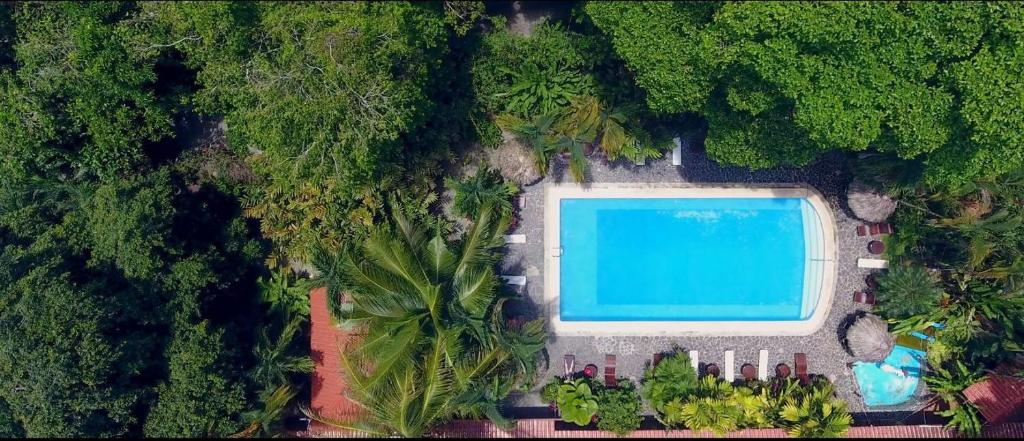 A view of the pool at Atlantida Lodge Cahuita or nearby