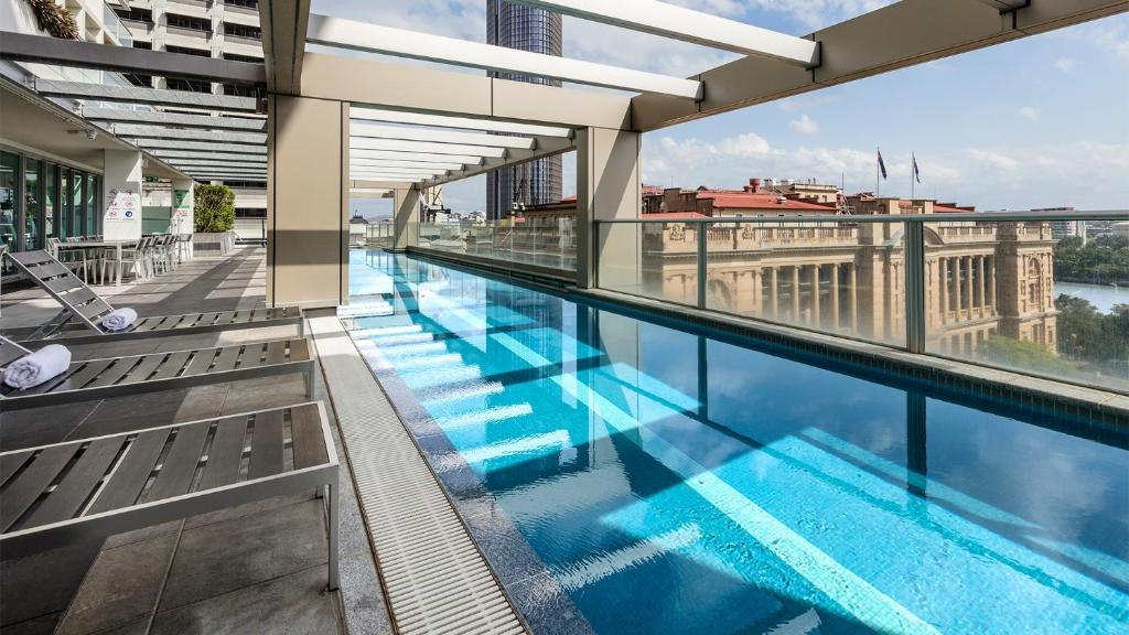 The swimming pool at or near Oaks Brisbane Casino Tower Suites