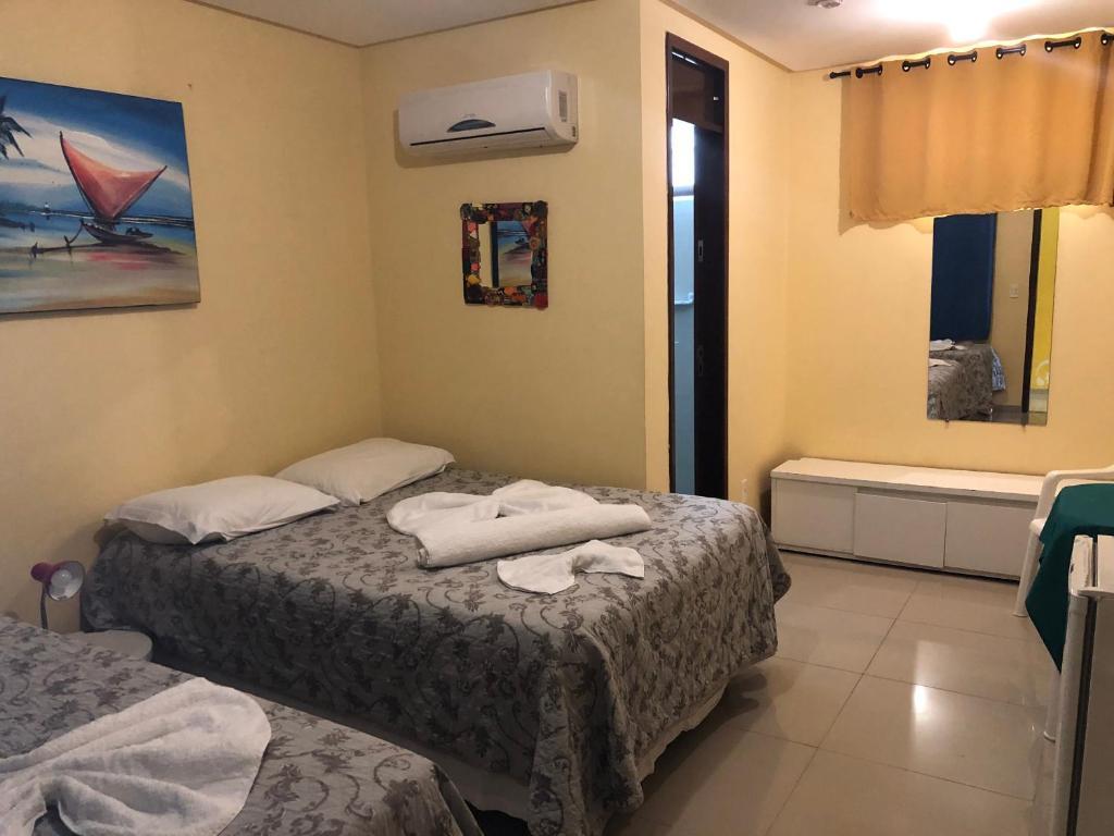 Cama ou camas em um quarto em Villa Simone