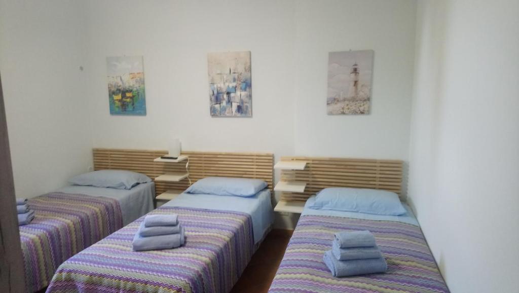 Letto o letti in una camera di Casetta Gaia