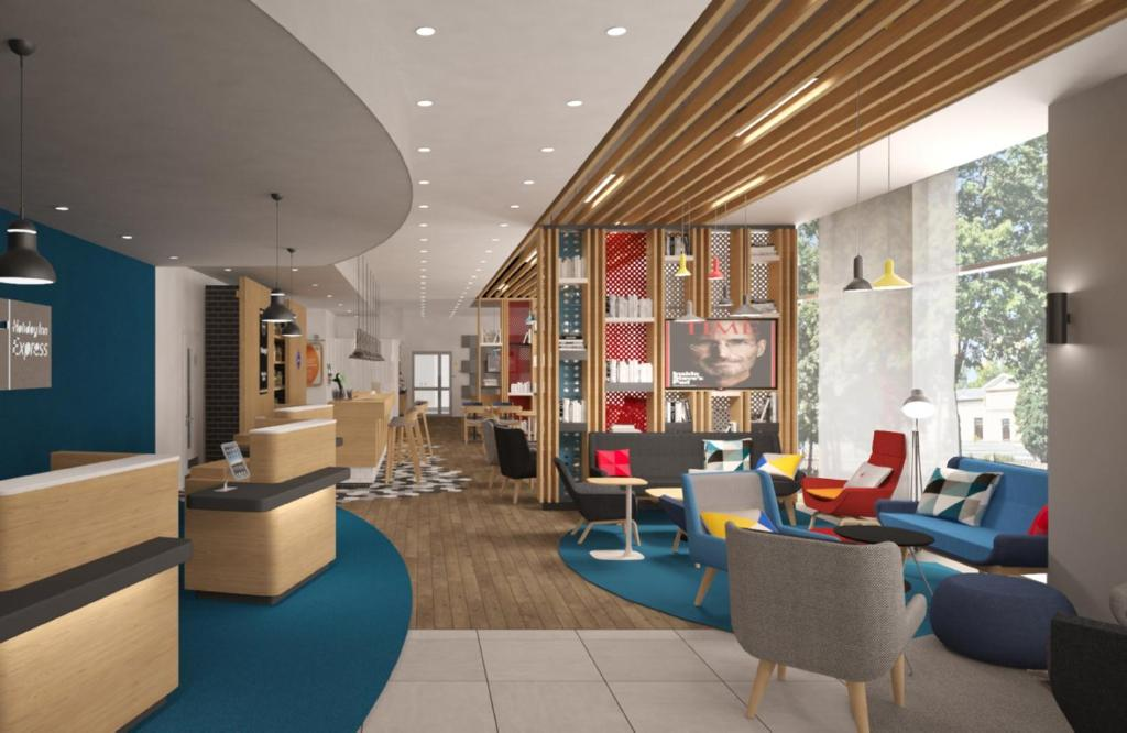 The lounge or bar area at Holiday Inn Express - Moscow - Paveletskaya, an IHG Hotel