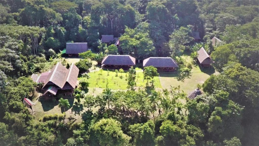 A bird's-eye view of Collpas Tambopata Inn