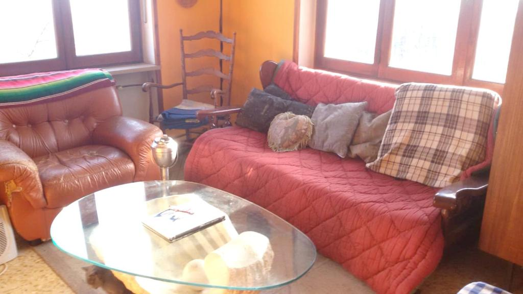 Apartment with one bedroom in Castelnuovo Nigra with furnished balcony and WiFi 30 km from the slopes