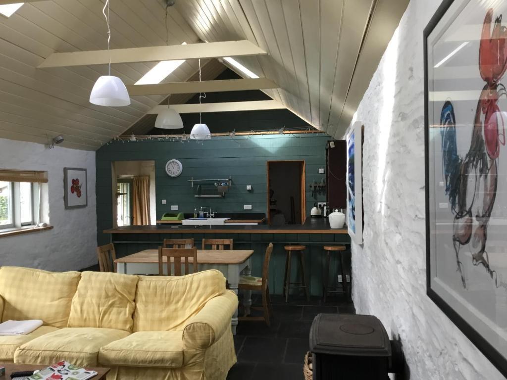 A seating area at Potato, Barafundle Barns, SA71 5LS