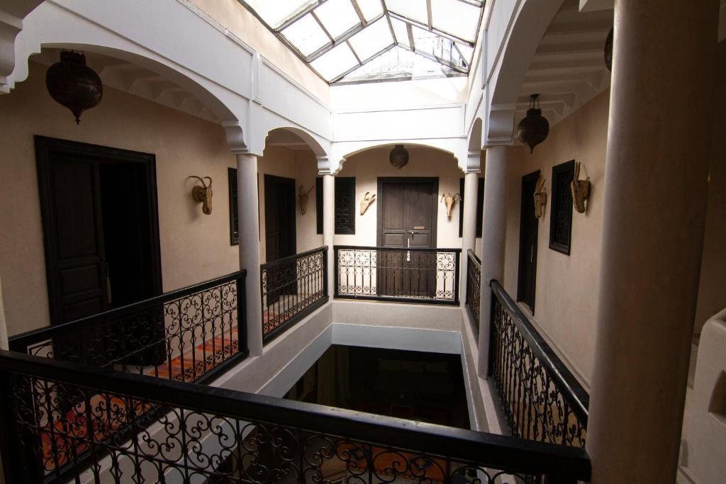 Balcon ou terrasse dans l'établissement Riad Anrich