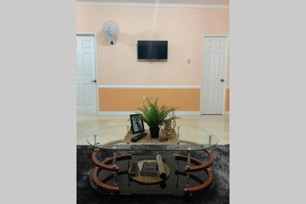 A television and/or entertainment center at Secure, Modern, Central Apt in Kingston