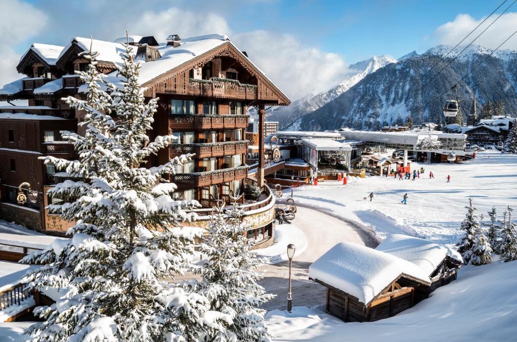 Hôtel de la Loze зимой