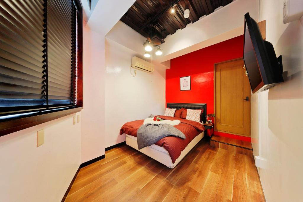 A bed or beds in a room at Terrace Terano#101